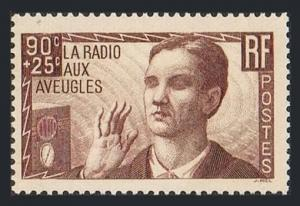 France B79,MNH.Michel 436. Radio for the blind,1938.