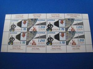 SLOVENIA 1994 - SCOTT # 194-195  Mini Sheet  MNH