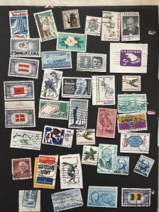 US Used Mixture all 5c selection  Good condition 105 stamps FREE SHIPPING