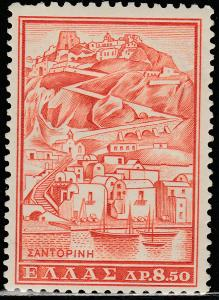 GREECE 706, 8.50d VIEW OF SANTORINI. UNUSED, HINGED, OG. F-VF. (139)