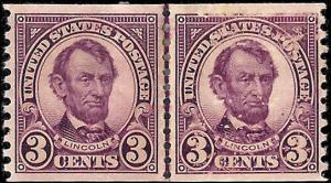 600 Mint,OG,HHR... Line Pair... SCV $30.00
