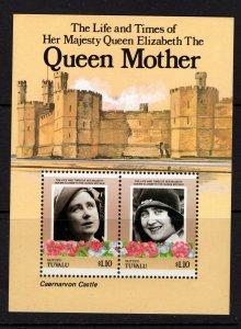 Tuvalu (Vaitupu) #55  (1985 Queen Mother $1.10 sheet) VFMNH CV $2.10