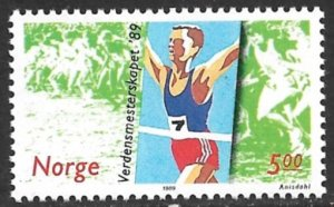 NORWAY 1989 Cross Country Running Championships Issue Sc 937 MNH