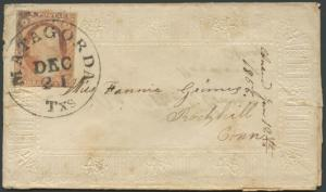 TEXAS MATAGORDA COUNTY (1850's MATAGORDA) LADIES COVER  #373