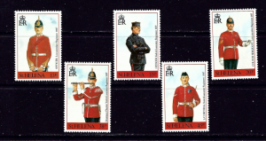 St Helena 549-53 MNH 1991 Military Uniforms