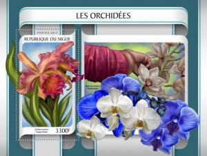 NIGER - 2017 - Orchids - Perf Souv Sheet - MNH