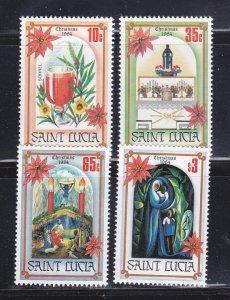 St Lucia 702-705 Set MNH Christmas