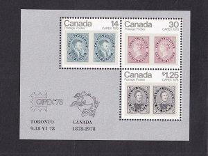 Canada  #753-756a  MNH  1978  sheet  CAPEX `78