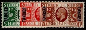 MOROCCO AGENCIES GV SG238-240, SILVER JUBILEE set, NH MINT. Cat £26.