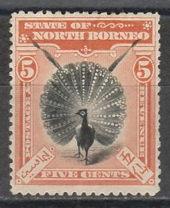NORTH BORNEO 1897 BIRD 5C PERF 13.5 -14