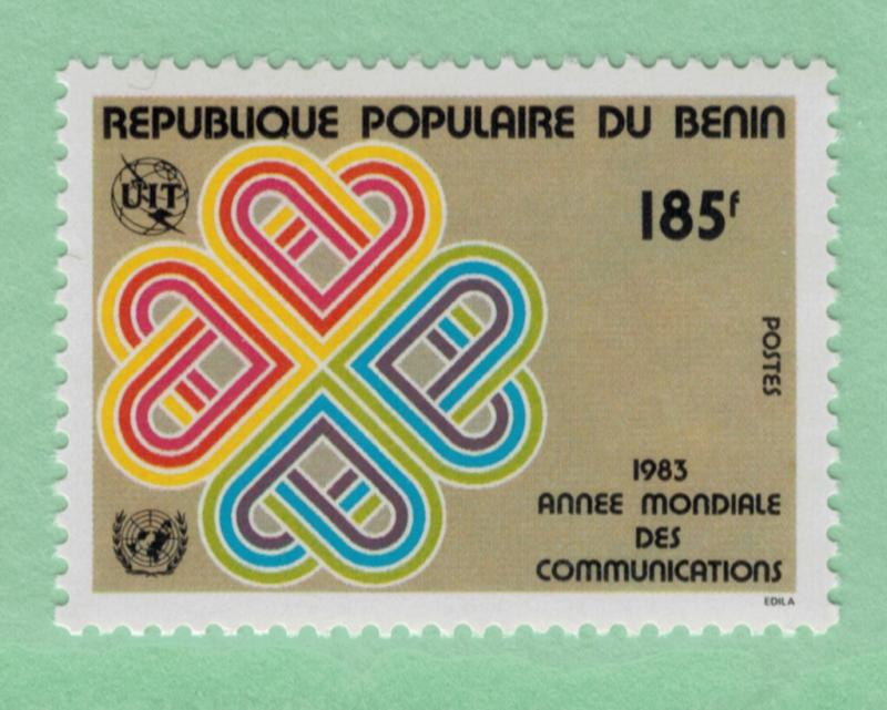 People's Republic of Benin Scott #545, Mint Never Hinged MNH, Single Stamp, W...