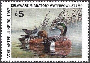 DE7 Mint,OG,NH... State Duck Stamp... SCV $11.00