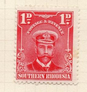 Southern Rhodesia 1924 Admiral Issue Mint Hinged 1d. 294114