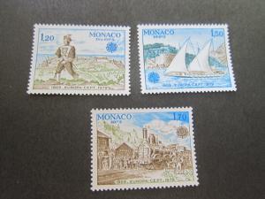 Monaco 1979 Sc 1178-80 set MNH