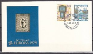 Switzerland, Scott cat. 675-676. Europa-Letter Box issue. First day cover. ^
