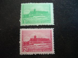 Stamps - Cuba - Scott# 433-434 - Mint Hinged Set of 2 Stamps