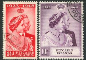 PITCAIRN ISLANDS-1948  Royal Silver Wedding Set Sg 11-12 V22370