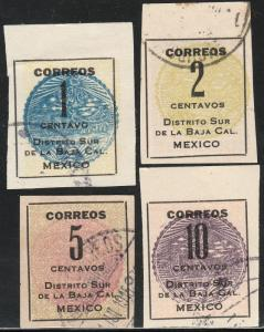 MEXICO 401-404,  Baja California Revolut. Issue. USED. F-VF. (527)