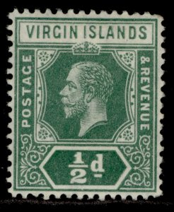 BRITISH VIRGIN ISLANDS GV SG69, ½d green, M MINT.