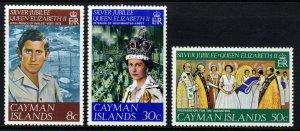CAYMAN ISLANDS Queen Elizabeth II 1977 Silver Jubilee Set SG 427 to SG 429 MNH