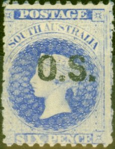 South Australia 1885 6d Bright Ultramarine SG019 Fine Mtd Mint