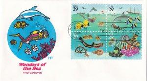 1995, Wonders of the Sea,  Block/4, HF, FDC (E11833)