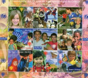 Sao Tome and Principe 2004 International Year of the Child (ICY) Shlt (9) Perf.