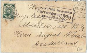 69037 - LATVIA - POSTAL HISTORY - COVER from KURLAND with GERMAN censor 1919