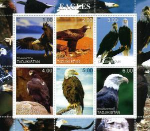 Tadjikistan 2000 EAGLES Sheet Perforated Mint (NH)