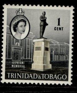 TRINIDAD & TOBAGO QEII SG284, 1c stone & black, M MINT.