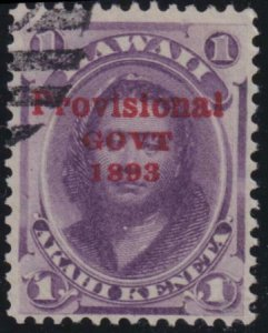 Hawaii SC 53b No Period after 'Govt' Used Stamp