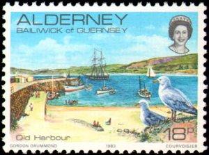 Great Britain Alderney #1-12, Complete Set(12), 1983, Never Hinged