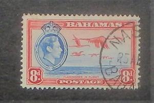 Bahamas 108. 1938-46 8p Carmine and ultramarine KGVI, used