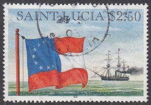 St. Lucia 1057 Used CV $2.50