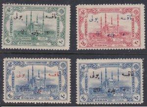 Turkey #J59-62 MH overprints CV $49