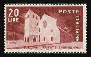 Italy 521,hinged.Michel 779. Trieste election,1949.Basilica of St Just,Trieste.