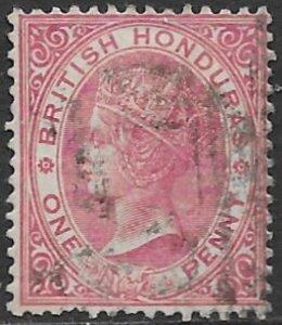 British Honduras 14    1884  one penny fine used