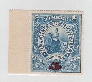 Guatemala Revenue fiscal cinderella Stamp 1-9 - MNH Gum! Large size 5 peso 1889