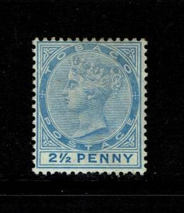 Tobago SG# 16 Mint Hinged / Hinge Rem / Dull Blue - S6232