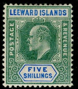LEEWARD ISLANDS SG28, 5s green & blue, M MINT. Cat £65.