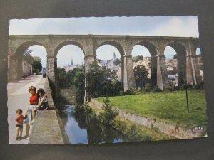 4639 Cartolina Postcard Luxembourg Vue sur la Ville used 248
