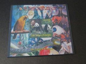 St. Thomas & Prince Islands 1989 Sir peter Scott Bird MNH