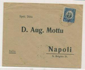 D174413 Panama Cover 1912 Napoli Italy