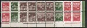 Germany 9N251a 1966-70 Brandenburg Gate Corner Block MNH