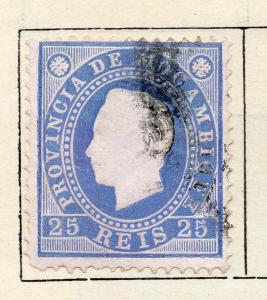 Mozambique 1886 Early Issue Fine Used 25r. 301217