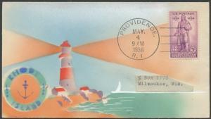 #777 ON RISKO ART STUDIO FDC CACHET RHODE ISLAND 1636-1936 CV $185 BS7628