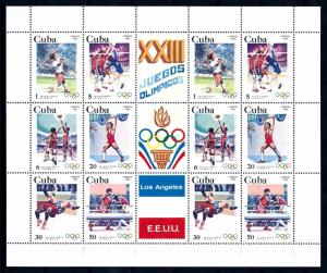 [65813]  1983 Olympic Games Los Angeles Wrestling Boxing  MNH