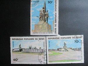 Benin, Scott#456-458, used