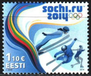 Estonia. 2014. 782. Sochi Winter Olympics. MNH.