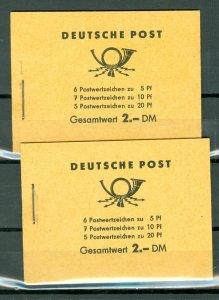 GERMANY DDR... 2x WORKER'S BLKTS